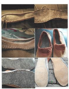 one pair from start to finish felt bottoms leather sole