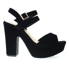 Sandbar15S Retro Platform Block Heel Sandal w Double Ankle Strap. Women Shoes