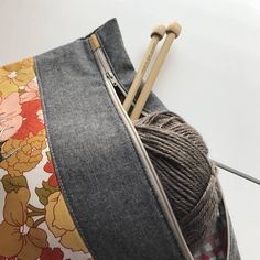 Project Bag Zipper Pouch WIP Bag Knitting Bag Woodland