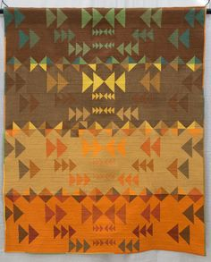 Modern Quilt Winners From QuiltCon 2015 – 1st Place, Piecing Flight Path By Mary Menzer of Virginia Beach, Virginia. Pieced and quilted by Mary Menzer.