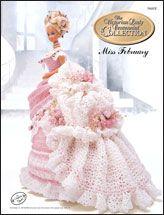 Crochet Dolls Clothes Crochet - Doll Patterns - Bed Doll Patterns - Centennial Miss February 1993 Crochet Doll Dress, Crochet Barbie Clothes, Crochet Doll Pattern, Knitted Dolls, Crochet Patterns, Barbie Gowns, Barbie Dress, Barbie Doll, Doll Dresses