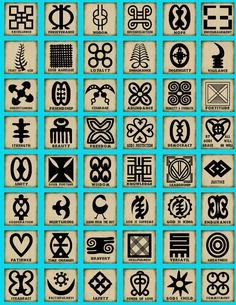 Adinkra symbols of African origin