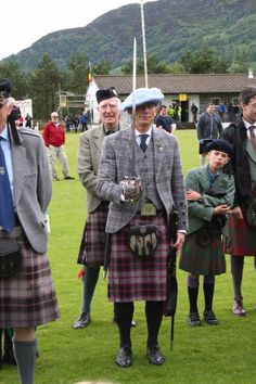 MacPherson Clan Gathering 2015. After the Clan March @ Newtonmore Highlands Games. Proudly wearing a Jacobite bonnet with a White cockade.