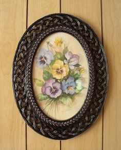 Upcycled Vintage Oval Shaped Picture