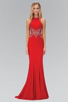 Elizabeth K - Embellished High Neck Long Gown Sparkly Prom Dresses, Simple Prom Dress, Best Prom Dresses, Formal Dresses For Women, Dressy Dresses, Nice Dresses, Awesome Dresses, Club Dresses, Designer Evening Dresses