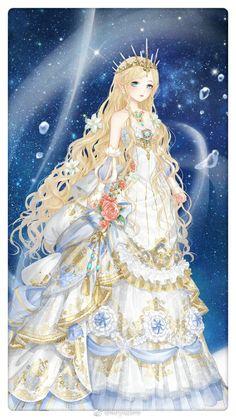 nữ hoàng Kiryu Zero Fantasy Princess, Anime Princess, Fantasy Girl, Anime Angel Girl, Anime Art Girl, Manga Girl, Fantasy Magic, Anime Fantasy, Vestidos Anime