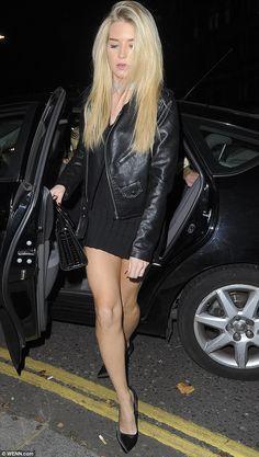Be a biker babe in a Nasty Gal leather jacket like Lottie Moss #DailyMail