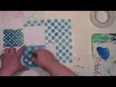 Make a repeating stencil pattern on deli paper with Carolyn Dube