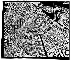 Artist Creates Giant Typographic Maps Of New York, Paris, London - DesignTAXI.com