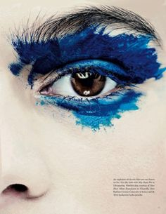So cool, only good for editorials, but so cool. Makeup Artist Sarah Jagger for Lone Wolf Magazine