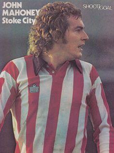 John Mahoney of Stoke City in John Mahoney, Stoke City Fc, British Football, Stoke On Trent, Swansea, Football Team, 1970s, Soccer, Terrace
