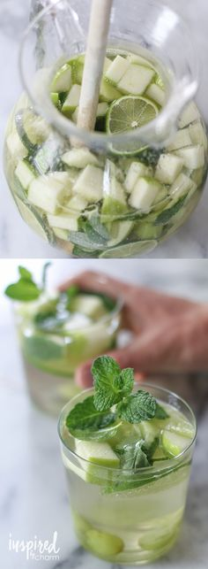 Sangria Verde - a refreshing and bright take on a classic sangria recipe. Made with white wine.