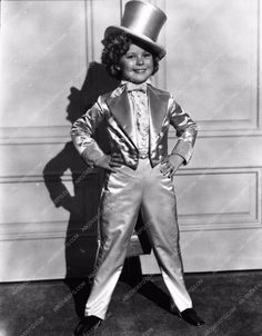 photo Shirley Temple in metallic top hat and tails 934-22