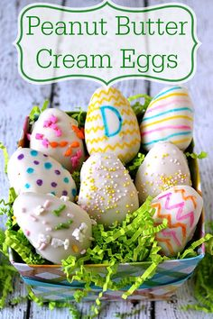 Peanut Butter Cream Eggs Easy to make, super cute and delicious!