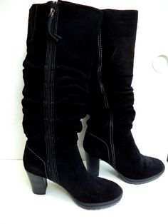 cfb614a030f9 Women s Size 8.5 Black Mira Suede Riding Boots Western look with Flair Sexy  NIB  CanyonRiver