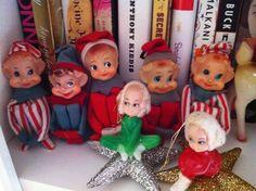 vintage x-mas elves