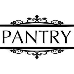 Pantry Door Decal 5 X