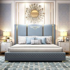 Modern Luxury Bedroom, Master Bedroom Interior, Luxury Bedroom Design, Bedroom Closet Design, Bedroom Furniture Design, Bed Furniture, Luxurious Bedrooms, Modern Classic Bedroom, Bed Headboard Design