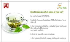 How to make a perfect cuppa of your tea?
