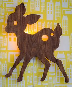 Dear deer   retro light lamp baby childrens room woodland cute on Etsy, $91.03 CAD