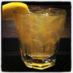 Whiskey Creek Cocktail- #Whiskey, Lemon Juice, OJ, Sugar, Club Soda. #Burbon #Cocktails #Knobbcreek