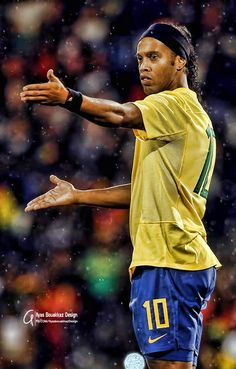 Ronaldinho. Brasil Brazil Football Team, Ronaldo Football, Best Football Players, Football Is Life, Football Art, World Football, Nike Football, Soccer Players, Barcelona Team