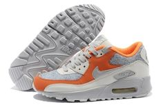 info for 8a388 df615 Nike Air Max 90 Online Naranja Blanco Gris Mujeres Zapatos €51,71 Nike Air