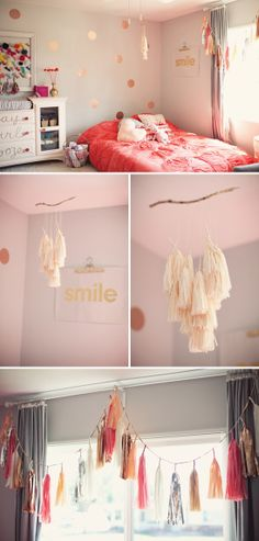 gold and gray nursery | Parker's Sweet, Girly Nursery in Pink, Gold, and Gray Love the SMILE art work