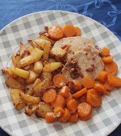 Recette COOKEO Roti de porc sauce brune proposée par alimentationWW sur son blog Manger de tout et équilibré Pot Roast, Food And Drink, Baking, Ethnic Recipes, Robots, Couture, Blog, Brown Sauce, Meat
