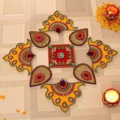 Rangoli Designs for Diwali: Buy Diwali Rangoli Online, Rangoli Stencils Diya Designs, Colorful Rangoli Designs, Rangoli Designs Diwali, Diya Decoration Ideas, Diwali Decorations At Home, Diwali Craft, Diwali Gifts, Diwali Wishes, Same Day Delivery Gifts