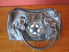 Country Road Brown Leather Purse W/ Star&Bling in Handbags & Purses | eBay