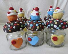 potinho de vidro cupcake -lembrancinha