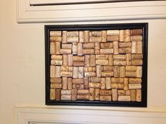 Wine cork bulletin board. Frame, corks, and frame! That's it!