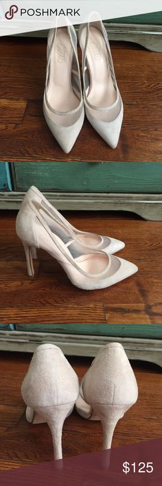 Beymen Club Suede and Transparent Mesh Pumps Feminine and sensual, the transparent mesh on this pump adds the ultimate touch of glamour. Its slim heel means that the arch of the foot is beautifully accentuated. Only worn once. Beymen Club Shoes Heels