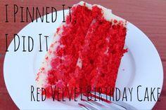 I Pinned It, I Did It: Red Velvet Birthday Cake | The Wilderness Girls