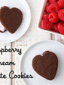 Raspberry Cream Chocolate Cookies from Weelicious.com