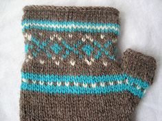About a month ago, I stumbled upon on a free Fair Isle fingerless glove pattern on Blue Sky Alpaca's website. It can get pretty chilly in my office at work, so fingerless gloves would come in handy (ha ha!).