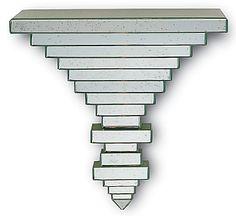 mirrored wall shelf/bracket