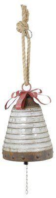 Wayfair Hanging Galvanized Bell Shaped Ornament