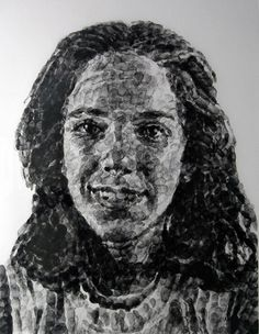 Image detail for -CHUCK CLOSE- This portrait was done with his thumbprints and black ink. Chuck Close Art, Intro To Art, Collage Portrait, Portraits, Drawing Application, Teen Art, Ap Studio Art, Art Projects For Teens, Print Artist