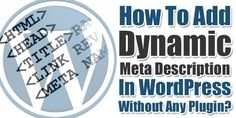 Do You Want To Add Automatically Dynamic Meta Description To Your Every WordPress Blog Post Then You Can Use Your WordPress Custom Field And Then Use Them As Post Meta Description In WordPress Blog Automatically.  Article: www.exeideas.com/2014/10/add-dynamic-meta-description-in-wordpress.html Tags: #WordPress #WordPressSEO #WordPressMetaTags #WordPressDynamicDescription #WordPressDescriptionTag #WPMetaTags #SEO #MetaTags #DescriptionTag