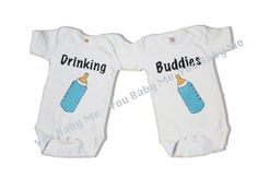 Twin funny snap tee Drinking Buddies  Twin clothing  by Youbabyme, $30.00 - Cute for twin boys