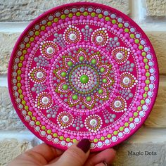 Unique Painted Gifts, Home & Kitchen Decor by MagicDots Mandala Canvas, Mandala Artwork, Mandala Dots, Mandala Painting, Stone Art Painting, Dot Art Painting, Ceramic Painting, Painting Patterns, Art Art