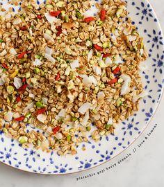 pistachio goji berry granola / @A Whole Lotta Love and Lemons
