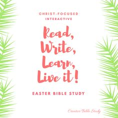 Ten free creative & interactive Easter Bible study devotions for adults with questions and activities to turn around and teach your kids truths about Easter! Family Bible Study, Bible Study Lessons, Bible Study For Kids, Scripture Study, Bible Verses, Easter Devotions, About Easter, Bible Studies, Jesus Quotes