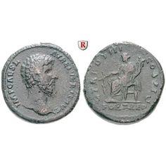 Römische Kaiserzeit, Lucius Verus, Sesterz 162-163, ss: Lucius Verus 161-169. Messing-Sesterz 33 mm 162-163 Rom. Drapierte und… #coins