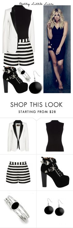 """""""Pretty Little Liars Hannah"""" by angelxalice ❤ liked on Polyvore featuring Roberto Cavalli, Oasis, Forever New, Jeffrey Campbell, Kevin Jewelers, Karen Kane, chic, pll, classy and edgy"""