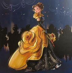 Belle Disney Designer Midnight Masquerade series art image