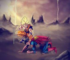 goku vs superman by CristhianHova