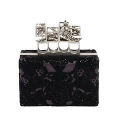 ALEXANDER MCQUEEN | Bags | Embroidered Silk Poppy Cage Knuckle Box Clutch